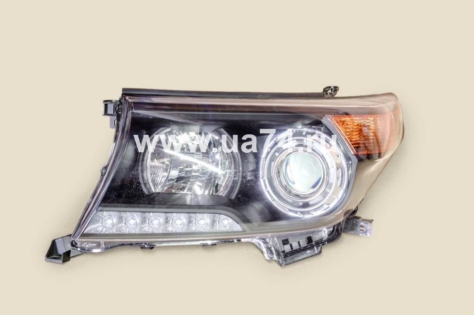 Фара черная Brownstone TOYOTA LAND CRUISER 200 07-15 LH ЛЕВАЯ (ST-212-11U5BL / SAT)