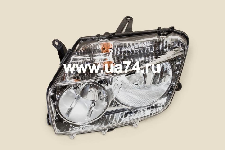 Фара хром оригинальн. RN DUSTER 10- LH ЛЕВАЯ (ALRU676512095 / 260600069R / Automotive Lighting)